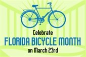 Celebrate Florida Bicycle Month on March 23rd