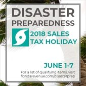 2018 Disaster Preparedness Sales Tax Holiday
