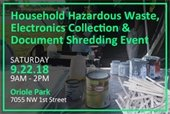 Household Hazardous Waste, Electronics Collection and Document Shredding Event