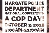 National Coffee With a Cop Day is October 3rd