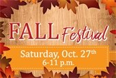 Fall Festival on Saturday, October 27th