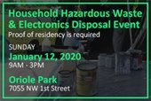 HHW and Eelectronics Collection Event on January 12th