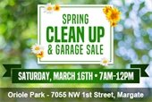 Spring Clean Up and Garage Sale on March 16th