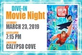 Dive In Movie Night on March 23rd at Calypso Cove