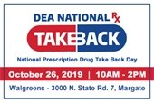 Prescription Drug Take Back on October 26th