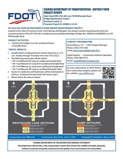 FDOT Sample Road Bridge Maintenance Project
