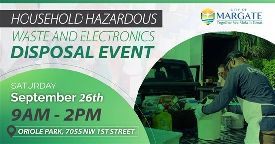 Household Hazardous Waste and Electronics Collection & Document Shredding Event on Sept. 26th