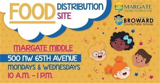 Food Distribution at Margate Middle School