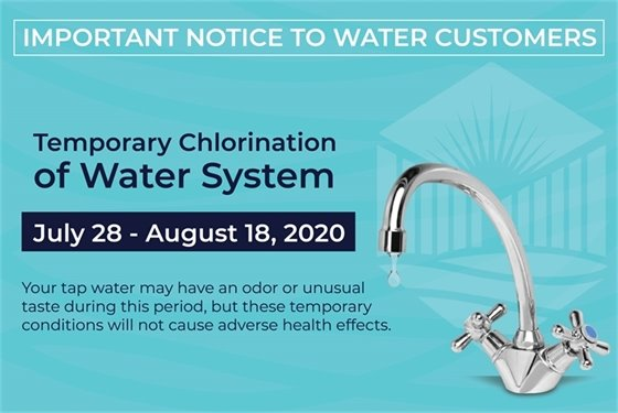 Temporary Chlorination of Water System