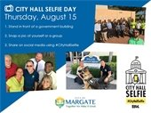 City Hall Selfie Day is August 15th