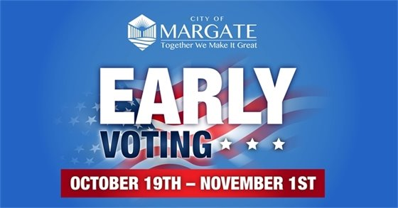 Early Voting Takes Place Oct. 19th - Nov. 1st
