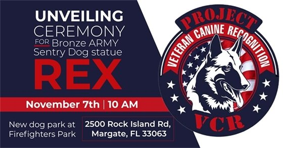 Army Sentry Dog Statue Unveiling Nov. 7th