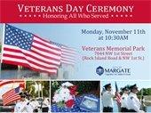 Veterans Day Ceremony on November 11th