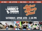 Sounds at Sundown on April 6th