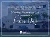 City Hall Closed on Labor Day
