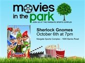 Movies in the Park on October 6th