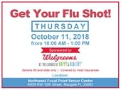 Flu Shots Available on Oct. 11th