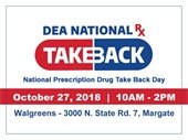 Prescription Drug Take-Back on October 27th