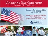 Veterans Day Ceremony November 11th