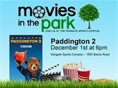 Movies in the Park on December 1st