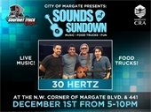Sounds at Sundown is Saturday, December 1st