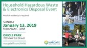 Household Hazardous Waste and Electronics Collection on January 13th