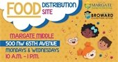 Food Distribution Site at Margate Middle School