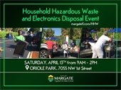 HHW and Electronics Disposal Event April 13