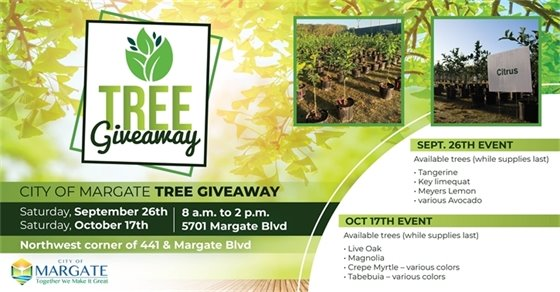 Tree Giveaway this Saturday, October 17th