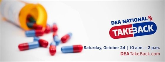 DEA Drug Take Back on Saturday, October 24th