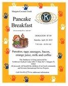 Pancake Breakfast on April 20th