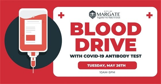 Blood Drive on Tuesday, May 26th