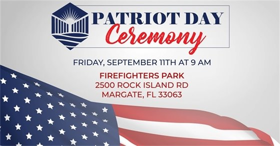 Patriot Day Ceremony on September 11th at 9 a.m.