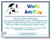 Library Hosts World Arts Day on Saturday, February 9th