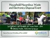 Household Hazardous Waste and Electronics Disposal Event