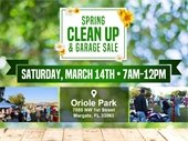 Spring Clean Up and Garage Sale on March 14th