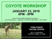 Coyote Workshop on January 23rd