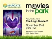 Movies in the Park on November 23rd