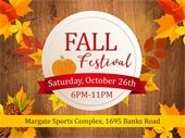 Fall Festival is October 26th