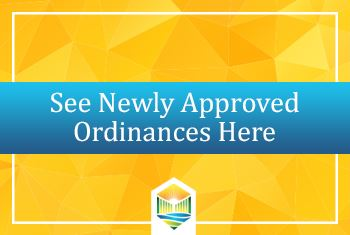 Newly Approved Ordinances
