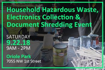 HHW Event and Document Shredding September 22 2018
