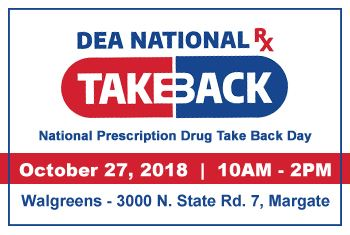 DEA National Prescription Take Back Day 2018