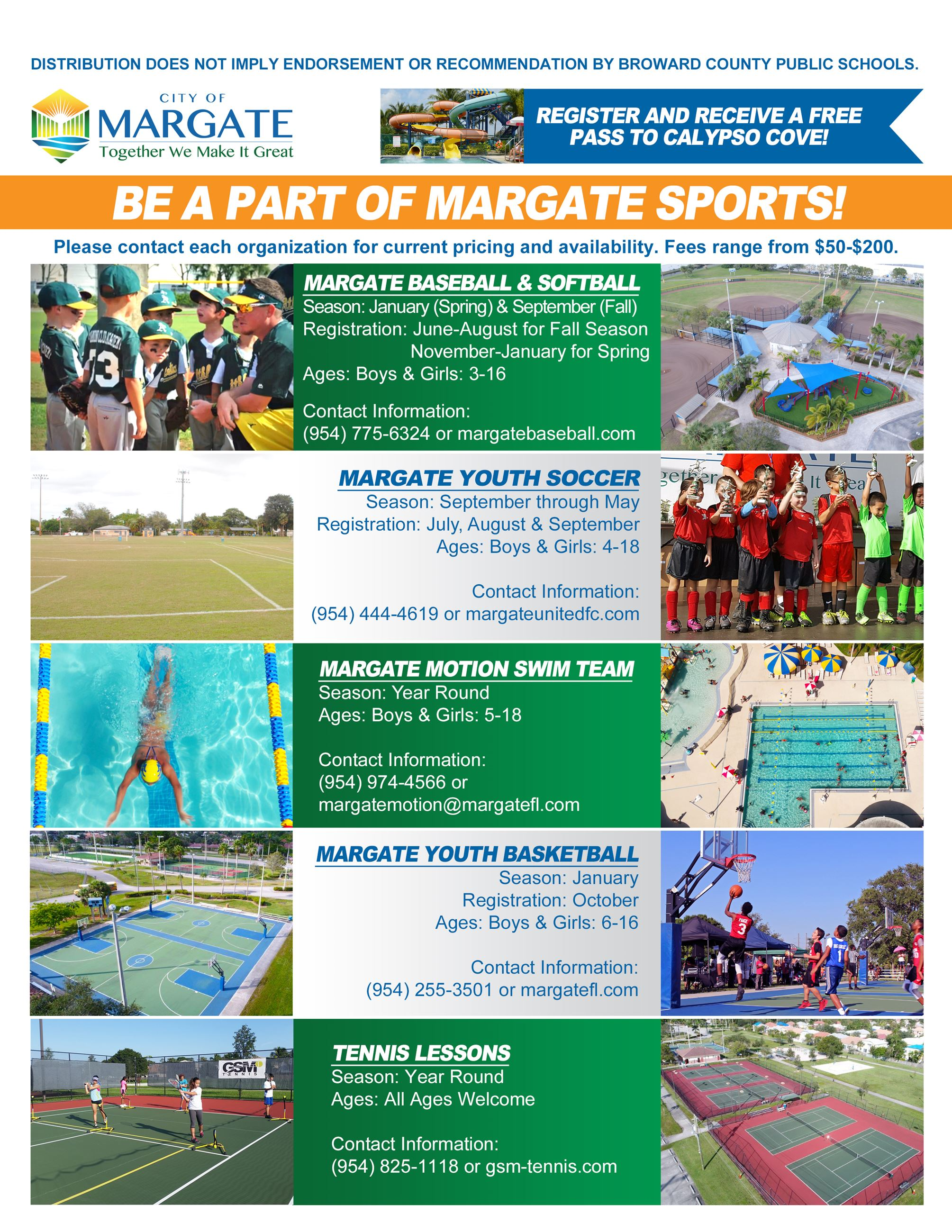 Sports League 2018 Flyer