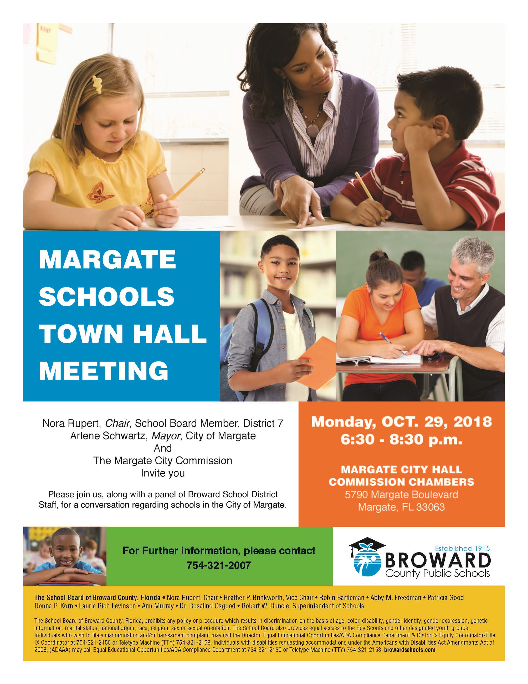 Margate School Meeting on October 29th