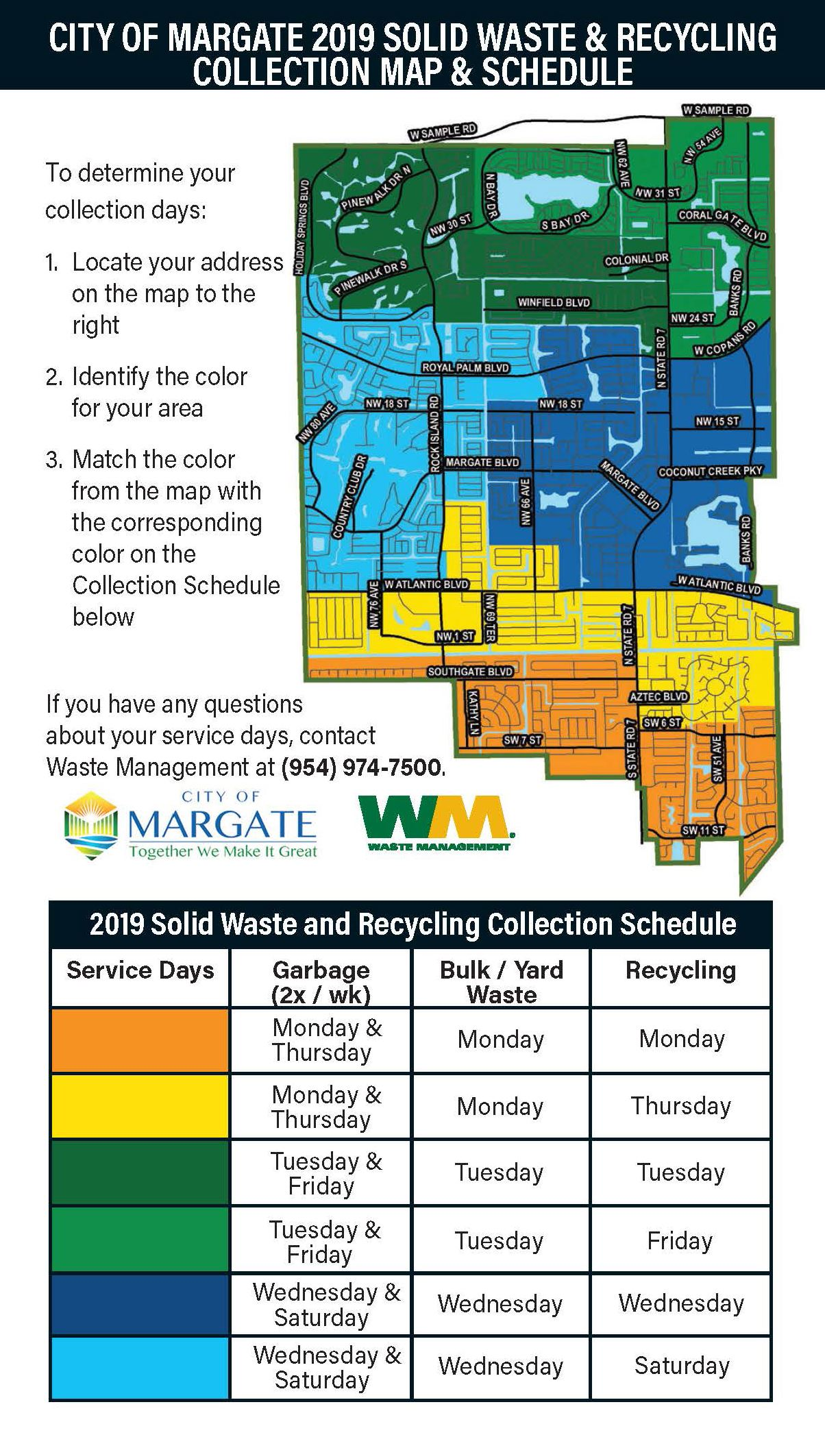 Waste Management Yard Waste Pickup Schedule 2019 Bulk / Yard Waste | Margate, FL